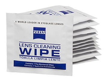 2. Zeiss Pre-Moistened Lens Cleaning Wipes