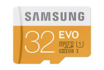7. Samsung EVO 32GB Class card with Adapter