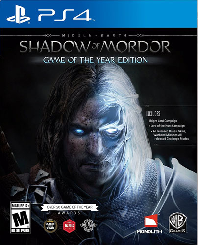 7. Middle Earth: Shadow of Mordor Game of the Year