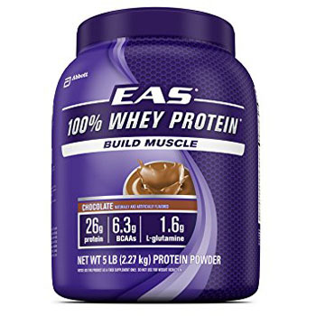 4. EAS 100% Pure Whey Protein Powder, Chocolate