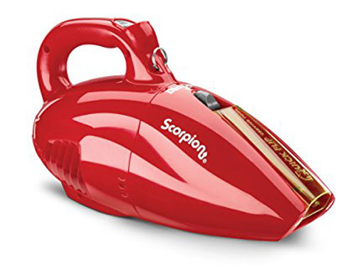 4. Dirt Devil SD20005RED Scorpion Quick Flip Corded Bagless Handheld Vacuum, Red