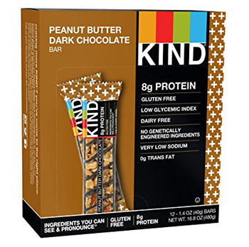 8. KIND Bars, Peanut Butter Dark Chocolate