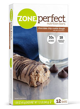 6. ZonePerfect Nutrition Bars, Chocolate Chip Cookie Dough