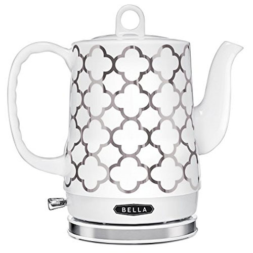 7.BELLA 1.2L Electric Ceramic Tea kettle with Detachable base and boil dry protection