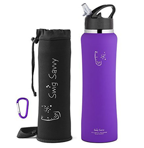 9. Swig Savvy Stainless Steel Insulated Water Bottle