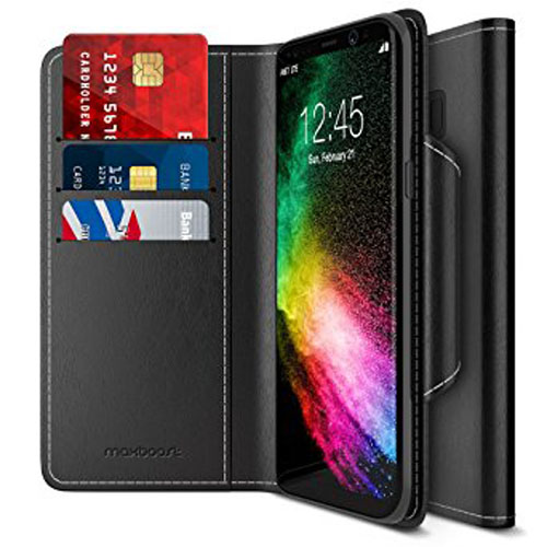 10. Maxboost Galaxy S8 Plus Wallet Case