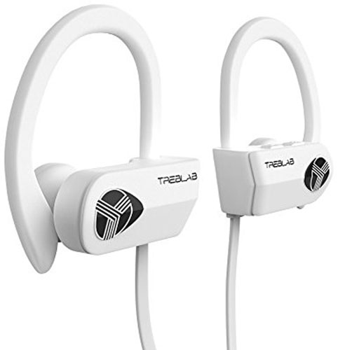 6. TREBLAB XR500 Bluetooth Headphones, White