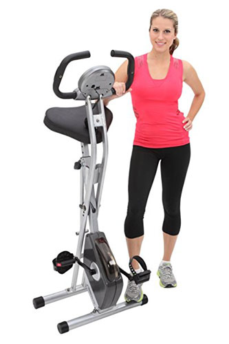 3. Exerpeutic Folding Magnetic Upright Bike
