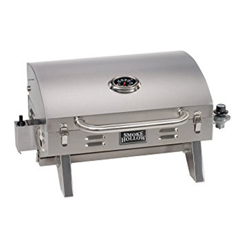 9. Smoke Hollow 205 Stainless Steel TableTop Propane Gas Grill