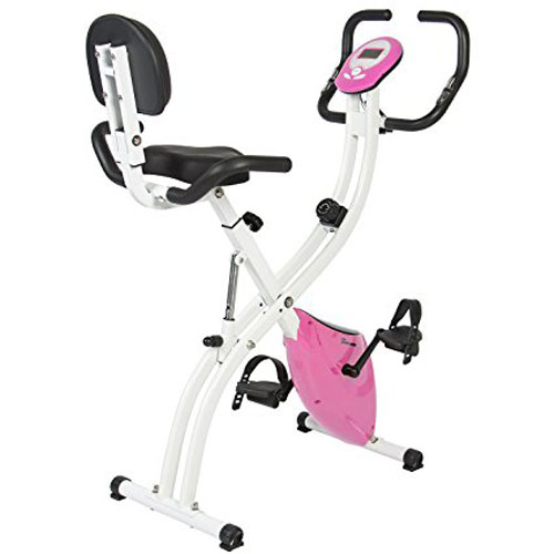 2. Best Choice Products Folding Adjustable Magnetic Upright Exercise Bike