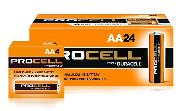 7. Duracell Procell AA 24 Pack PC1500BKD09