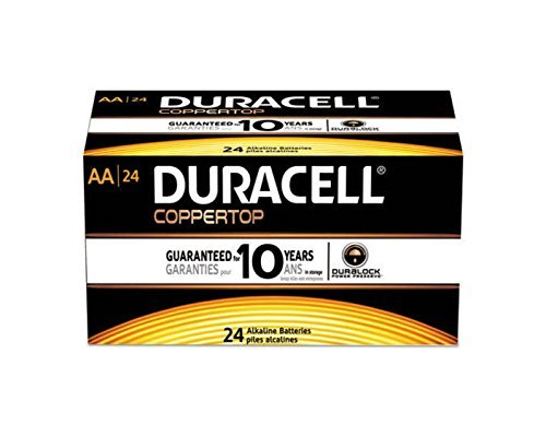 6. Duracell Coppertop AA Batteries 24 Count