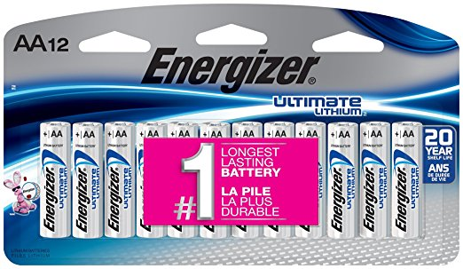 8. Energizer Ultimate Lithium AA Batteries, 12 Count