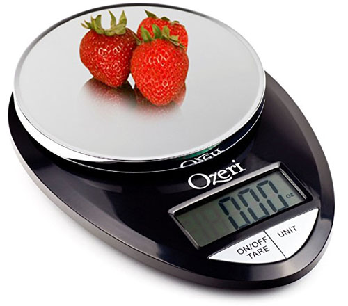 7. Ozeri Pro Digital Kitchen Food Scale, 1g to 12 lbs Capacity