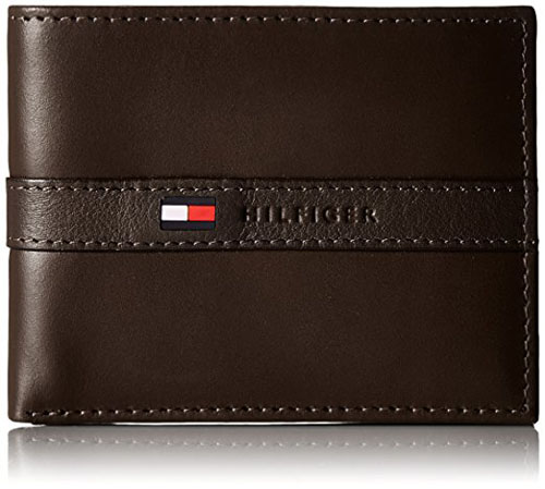 4. Tommy Hilfiger Men's Ranger Leather Passcase Wallet