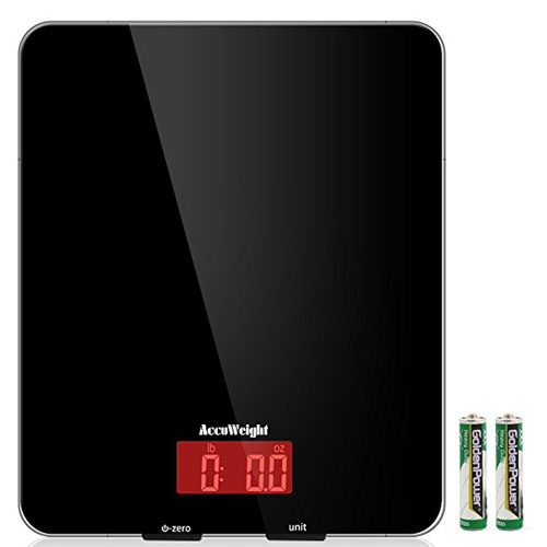 10. AccuWeight Digital Kitchen scale Multifunction Meat Food Scale with LCD Display