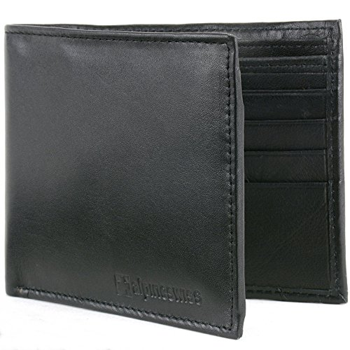 7. Alpine Swiss Mens Leather Wallets Money Clips Card Cases