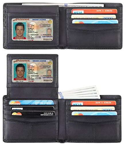 2. Travelambo Genuine Leather RFID Blocking Wallets