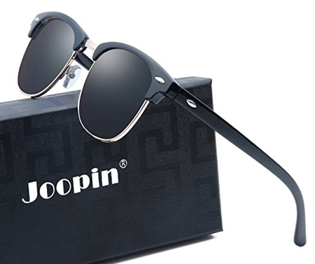 3. Joopin Semi Rimless Polarized Sunglasses