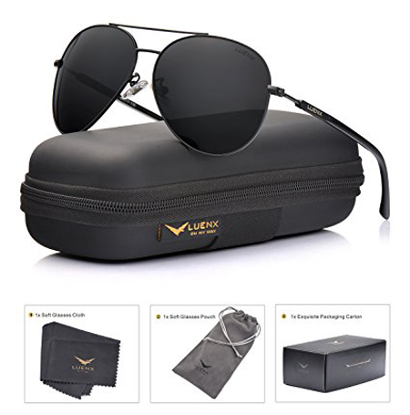 7.LUENX Men Aviator Sunglasses Polarized Women