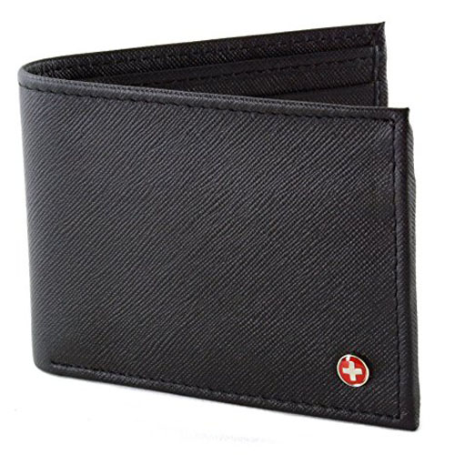 1. Alpine Swiss Mens Leather Flipout ID Wallet
