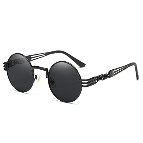 9. Joopin-Round Retro Polaroid Sunglasses