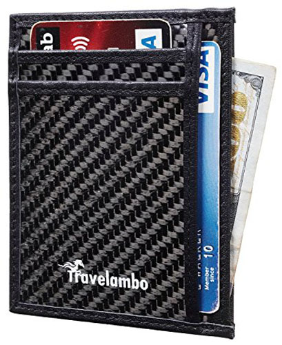 8. Travelambo RFID Front Pocket Minimalist Slim Wallet
