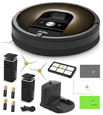 2. iRobot Roomba 980 Vacuum Cleaning Robot + 2 Dual Mode Virtual Wall Barriers