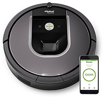 10. iRobot Roomba 960 Robot Vacuum with Wi-Fi Connectivity
