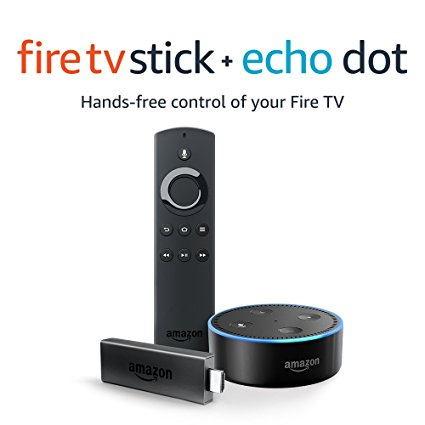 6. Fire TV Stick with Alexa Voice Remote + Echo Dot