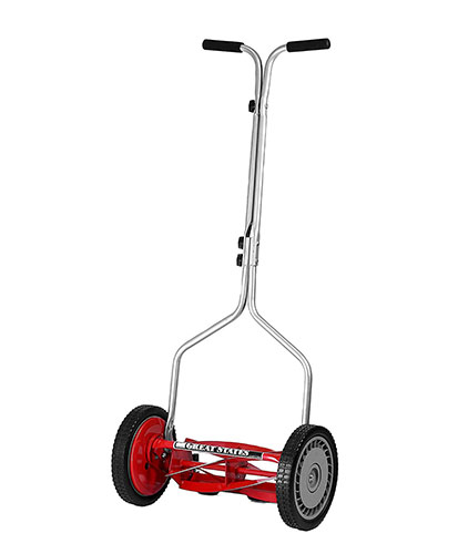 1. Great States 304-14 14-Inch 5-Blade Push Reel Lawnmower