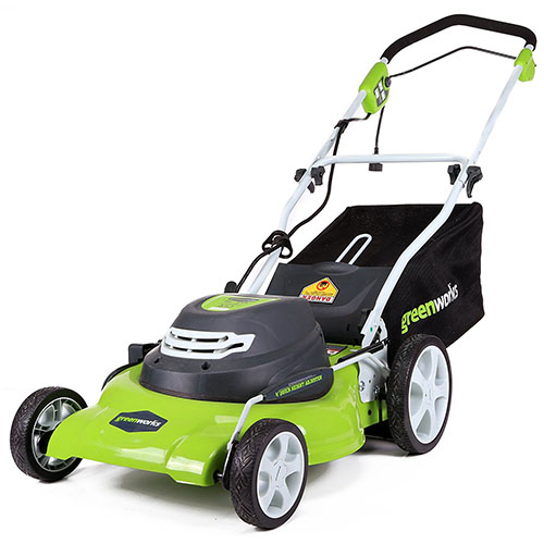 6. Greenworks 20-Inch 12 Amp Corded Lawn Mower
