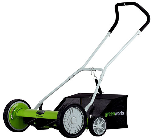 5. Greenworks 20-Inch 5-Blade Push Reel Lawn Mower