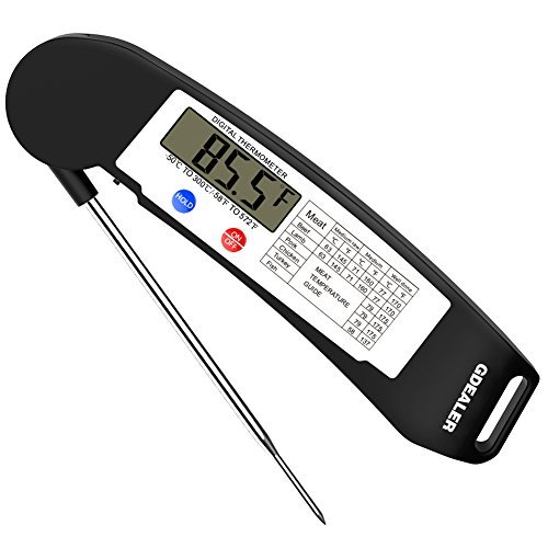 3. GDEALER Instant Read Thermometer Super Fast Digital Electronic Food Thermometer