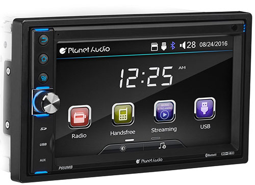 7. Planet Audio P650MB Double Din