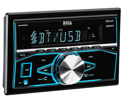 6. BOSS Audio 820BRGB Car Stereo - Double Din