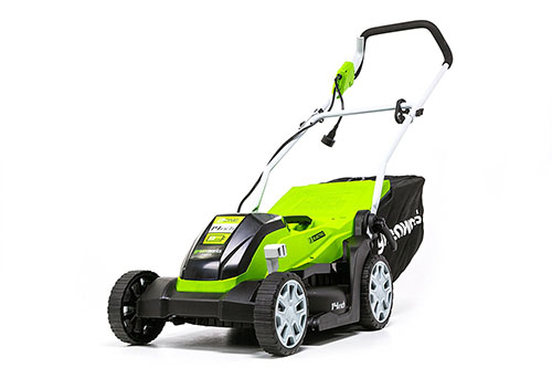 7. Greenworks 14-Inch 9 Amp Corded Lawn Mower