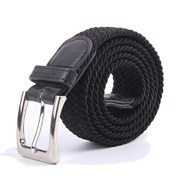 5. Canvas Elastic Fabric Woven Stretch Multi-Colored Braided Belt