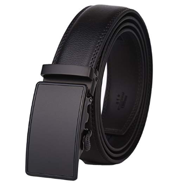 7. Dante Men's Leather Ratchet Dress Belt with Automatic Buckle