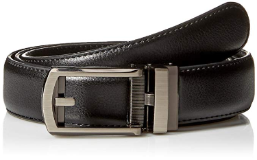 8. Comfort Click Men's Adjustable Perfect Fit Leather Belt-As Seen TV