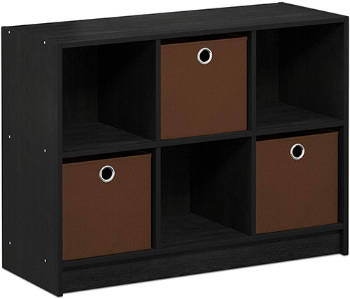 4. 3X2 BOOKCASE STORAGE BY FURINNO (AMERICANO/BROWN)